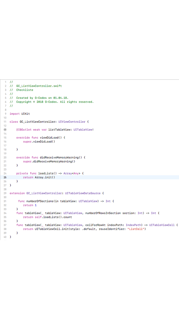 xCode sample